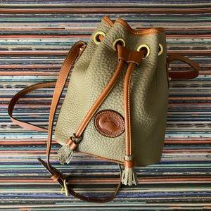 Dooney & Bourke Mini Green Bucket Bag CrossbodyEUC